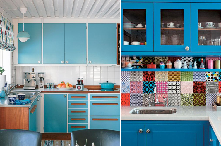 Turquoise blue kitchens
