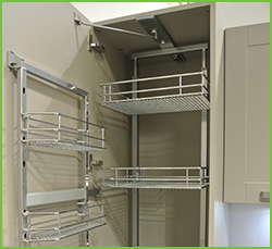 Pull out kitchen shelving